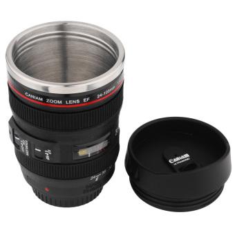 360DSC Mini 350 ml cangkir teh mug lensa mirip Caniam zoom lens EF 24-105 mm Hitam