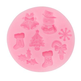 XMAS Silicone Fondant Cake Mold Christmas Chocolate Sugarcraft(Snowman)