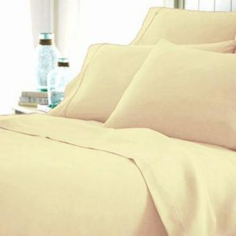 Alona Ellenov Jepang Plain Cream Ivory Sprei With Bed Cover Katun Jepang Super – Cream