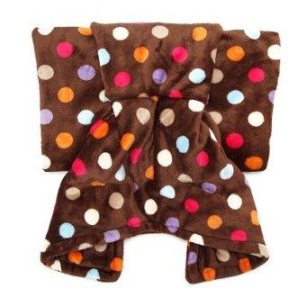 180cm Flannel Wave Point Stripe Mermaid Tail Blanket Home Office Crylic Warm Soft Sleep Bag - intl