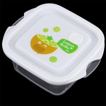 Harga OH 3pcs Set Square Crisper Microwave Ware Food Storage Containers Fresh Case Transparent