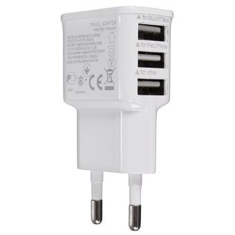 Harga Autoleader 3 Ports EU Plug USB Wall AC Charger Adapter