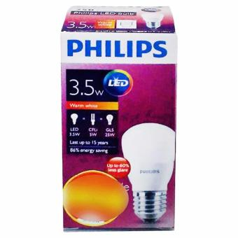 Harga PHILIPS Bohlam Lampu LED - Warm White [3.5 Watt]