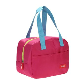 Portabe Waterproof Thickne Inuated Picnic choounch Bag (Roe Red) - intl
