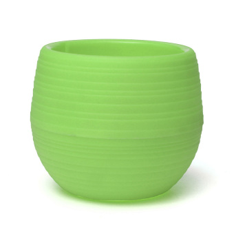 S & F 10CM Round Plant Flower Pot Home Office Balcony Decor Yard Planter Green