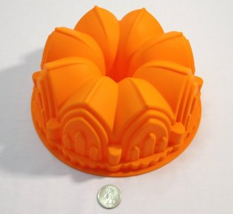Polymerose Silicone BUNDT Fluted Pan Mould 8 Cups, 21.6cm Diameter - intl