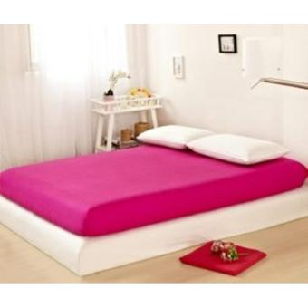 Sprei Jaxine Waterproof Anti Air(Sprei Only)-Pink Fanta