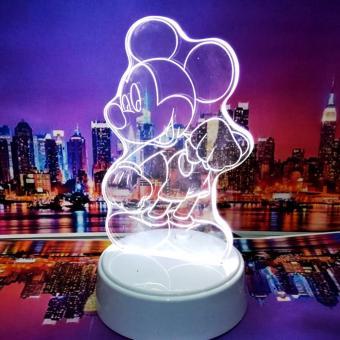 Universal Led 3D table lamp / lampu tidur Led 3D - MICKEY MOUSE