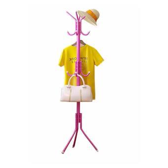 Harga Grosir Station - Gantungan Baju Standing Hanger / Multifunction Stand Hanger - Pink