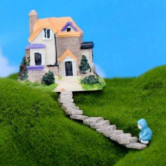 Mini Resin Bridge Stair Step Diy Garden Decor Plant Pot Fairy Garden Ornament Bend Bridge - intl