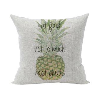 Nunubee Cushion Cover Linen Square Home Decor Pillow Case Decorative Home Accessories Pineapple 4