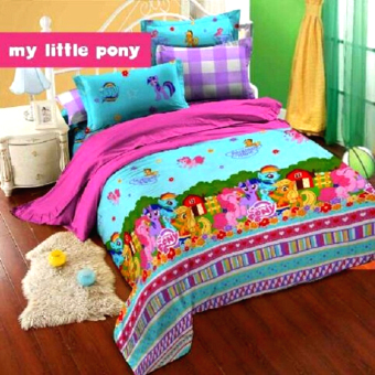 Alona Ellenov New Little Pony Sprei Bahan Katun – biru