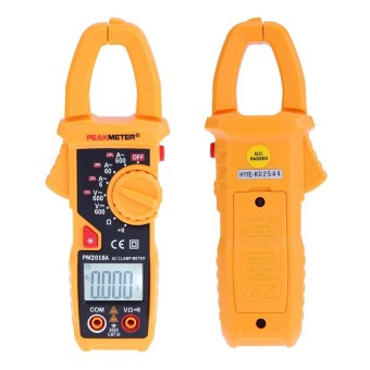 PEAKMETER PM2018A Handheld Digital LCD Clamp Meter Multimeter AC/DCVoltage AC Current Resistance Continuity with Backlight - intl