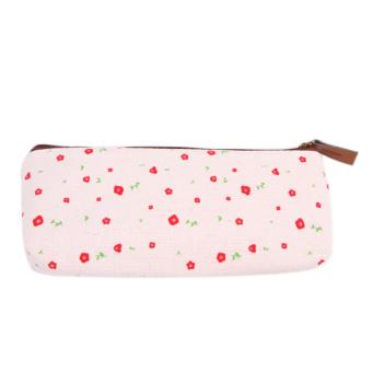 Floral Stationery Bag (Beige)