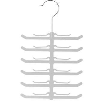 Harga Cocotina Popular Fishbone Necktie Tie Belt Hanger Rack Shawl Scarf Clip Holder Organizer - intl