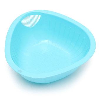 240x240x90mm Plastic Vegetables Fruit Wash Basket Rice Sieve Bowl Kitchen Gadget