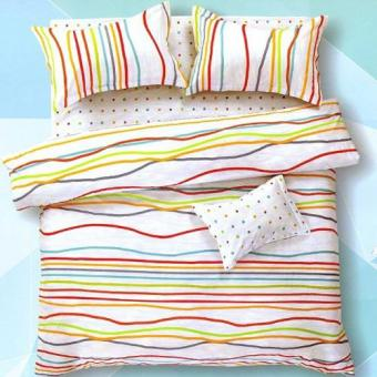 Depo Sprei dan Bed Cover Stripe Polka Queen Size
