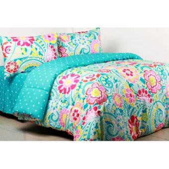 Alona Ellenov Allison Bed Cover Set Katun – Hijau