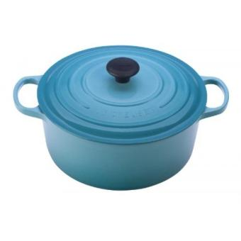 GPL/ Le Creuset Signature Enameled Cast-Iron 2-Quart Round French Oven, Caribbean/ship from USA - intl