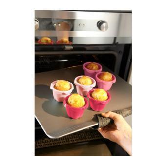 NEW - Ikea Sockerkaka ~ Cetakan Kue 6Pcs Dia.6Cm   Pink Silicone Rubber Cup