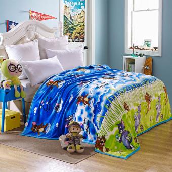 Flannel Blanket Coral Fleece Blanket Coral Velvet Golden Mink Wool Coverlet Bedspread Blanket throw New