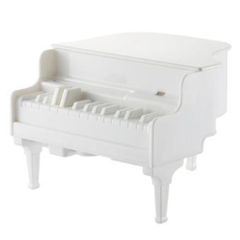 roortour Creative Piano UV Ultraviolet Sterilizing Automatic Toothpick Dispenser Case Holder (White)
