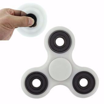 Harga Fidget Spinner Hand Toys Mainan Tri-Spinner EDC Ceramic Ball Focus Creative Games Funny White Murah