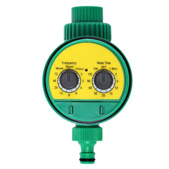 Electronic Water Timer Solenoid Valve Irrigation Sprinklercontroller (Yellow) - intl