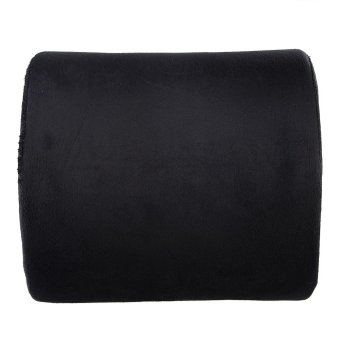 Memory Foam Lumbar Cushion Pillow (Black) - intl