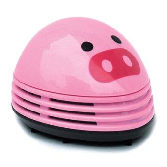 sqamin Electric Desktop Vacuum Cleaner Mini Dust Cleaner Pink Pig Prints Design - intl