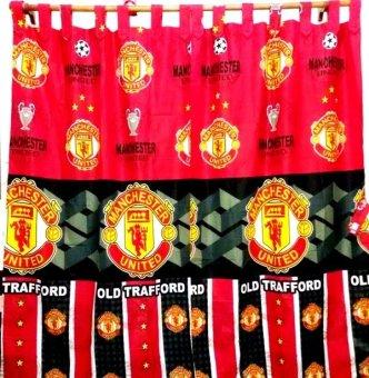 Harga Jaxine Gordyn Motif Manchester United - Merah