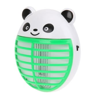 Cartoon Panda Mute LED Safe Mosquito Killer Light(Green)(Green) - intl