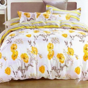 Depo Sprei dan Bed Cover Line Flower Katun Taiwan King Size