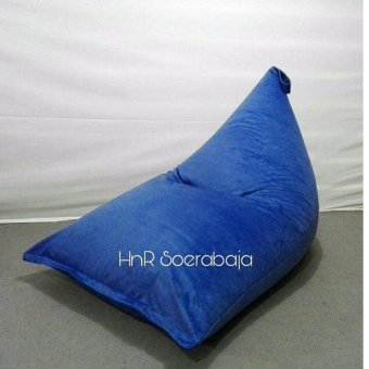 Harga Kursi santai bean bag triangel - Royal Blue