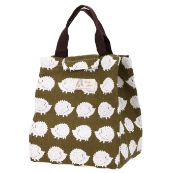 Portable Canvas Thermal Lunchbox Tote Bag