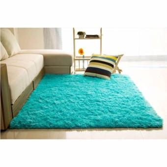 Harga Karpet Bulu Berbulu Anti Selip Tikar/Karpet Permadani Yang Menutupi Lantai 150x100cm Biru
