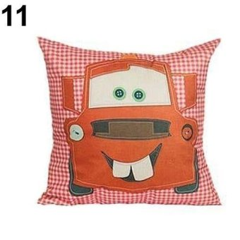 Sanwood Touring Car Owl Square Happy Campers Throw Pillow Case Home Décor 11 - intl