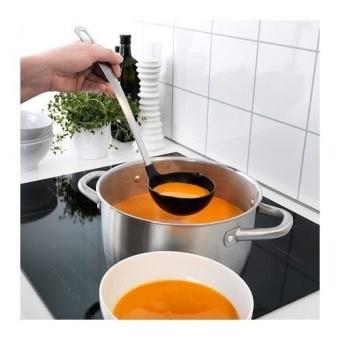 IKEA - DIREKT 3-Piece Kitchen Utensil Set, Black, Stainless Steel - intl