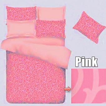 Jaxine Sprei Waterproof Anti Air 180x200 Tinggi 30cm Warna Ulir Pink