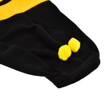 360DSC Polar Fleece Bumble Bee Dress Up Costume Pet Puppy Dog Cat Hoodie Coat Apparel Clothes - Yellow 14# (Intl)