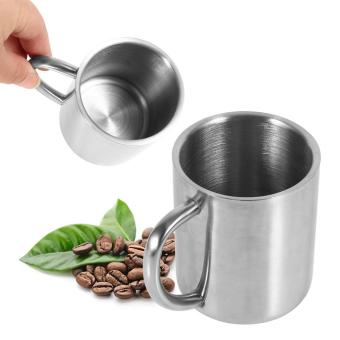 Harga Portable Stainless Steel Double Wall Mug Cup - intl