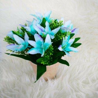 Harga Bunga Rumput - Tanaman Rangkaian Bucket Buket Bunga Pohon Plastik Artificial Artifisial Sintetis Pot Vas