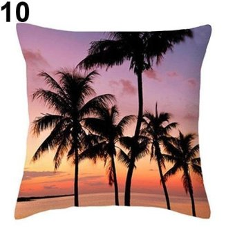 Sanwood Boho Geometric Beach Painting Living Room Sofa Linen Cushion Cover Pillow Case 10 - intl