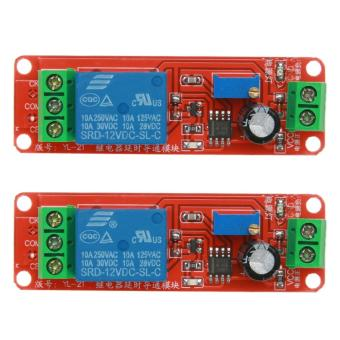 2pcs DC 12V Delay Relay Shield NE555 Timer Switch Adjustable Module - intl