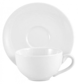 Amsterdam Tea Cup and Saucer - White - intl