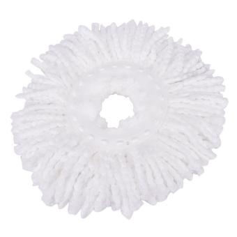 Household Magic Replacement Refill 360°Spin Cleaning Pad Microfiber Mop Head White - intl