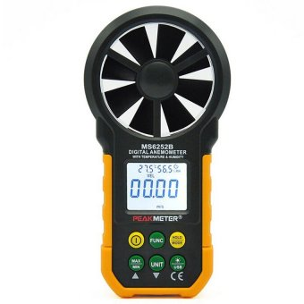 PEAKMETER MS6252B Digital Anemometer w/ Humidity&TemperatureTest - intl