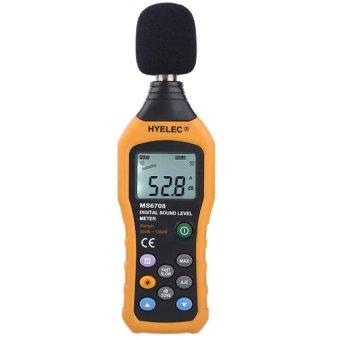 HYELEC MS6708 LCD Digital Audio Decibel Sound Noise Level MeterMonitor Meter Measuring 30 to 130 DB Logger Test Backlight (Intl) - intl