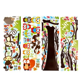 M&C Wall Decals Kids Bedroom Tree Owl Baby Nursery1Stickers Art Room Decor Removable - intl