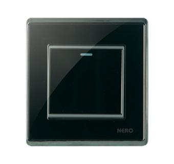 Nero Crystal A91611-B Saklar Listrik - Black